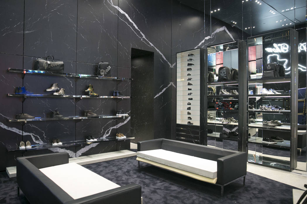 The sports collection at the Philipp Plein flagship store in The Shops at Crystals in Las Vegas, Thursday, July 27, 2017. The sports collection is only present at this location in the United State ...