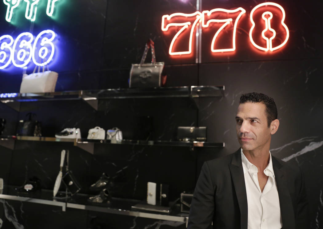 Shaul Eden, General Manager, poses for a portrait at the Philipp Plein flagship store  in The Shops at Crystals in Las Vegas, Thursday, July 27, 2017. Gabriella Angotti-Jones Las Vegas Review-Jour ...