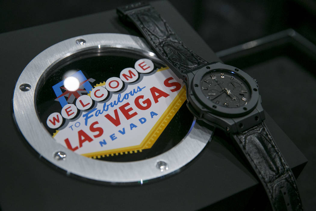 The Big Bang Las Vegas Limited Edition watch at the Hublot store in The Shops at Crystals in Las Vegas, Thursday, July 27, 2017. Gabriella Angotti-Jones Las Vegas Review-Journal @gabriellaangojo