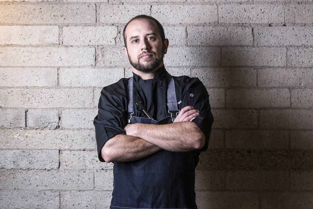 Chef Talen Lancaster at Therapy on Friday, July 28, 2017, in Las Vegas. Benjamin Hager Las Vegas Review-Journal @benjaminhphoto