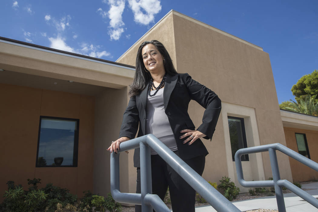 Alexandra Silver is the new executive director of the Clark County Medical Society. Photo taken on Monday, July 31, 2017, at the Clark County Medical Society, in Las Vegas. (Benjamin Hager/Las Veg ...