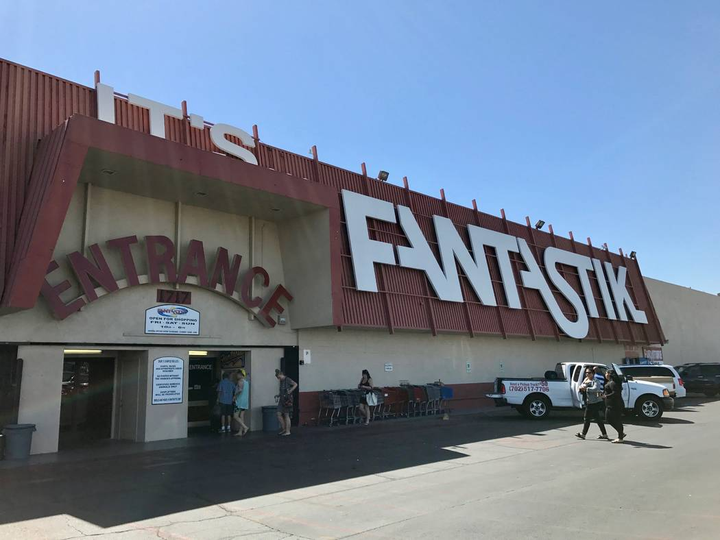 A massive sign greets customers who flock to the Fantastic Indoor Swap Meet on weekends looking for deals. (Madelyn Reese/View) @MadelynGReese