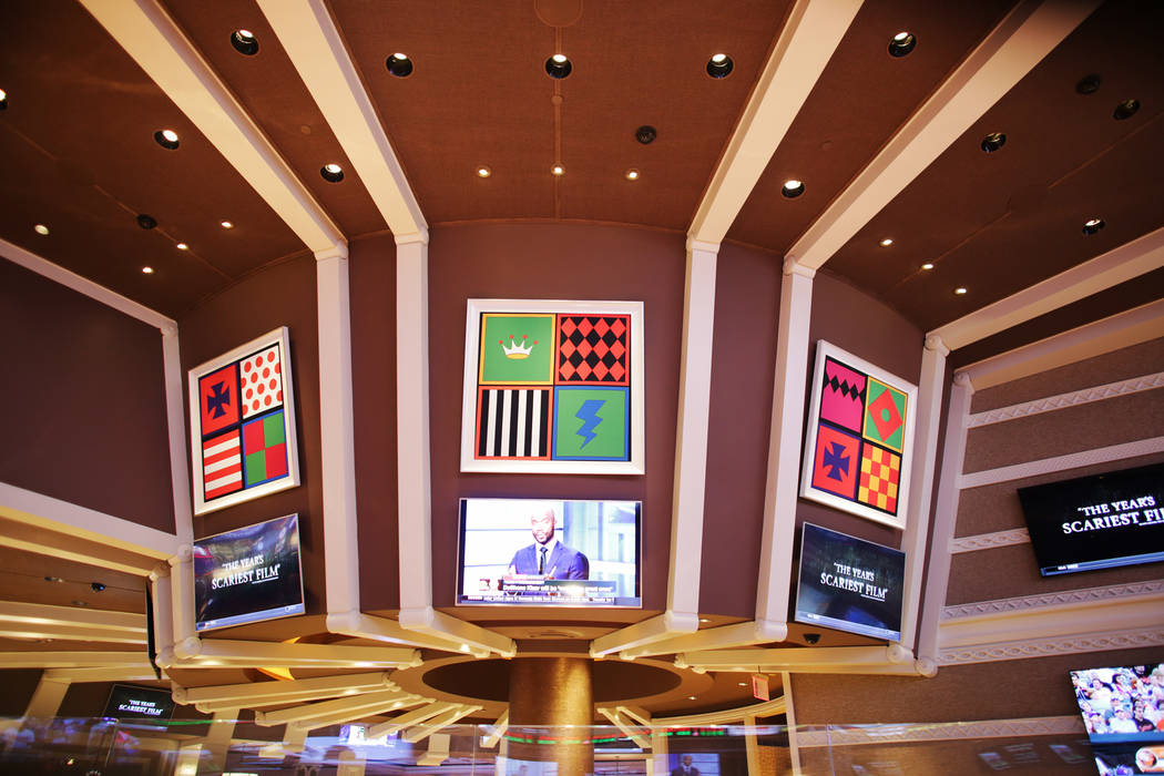 The new race and sports book at the Wynn on Monday, July 31, 2017, in Las Vegas. There are new screens, seats and a new bar. Rachel Aston Las Vegas Review-Journal @rookie__rae
