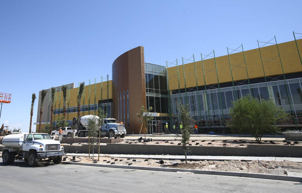 Construction continues at City National Arena, the Vegas Golden Knights' headquarters and training facility, in Las Vegas on Wednesday, Aug. 2, 2017. Chase Stevens Las Vegas Review-Journal @csstev ...