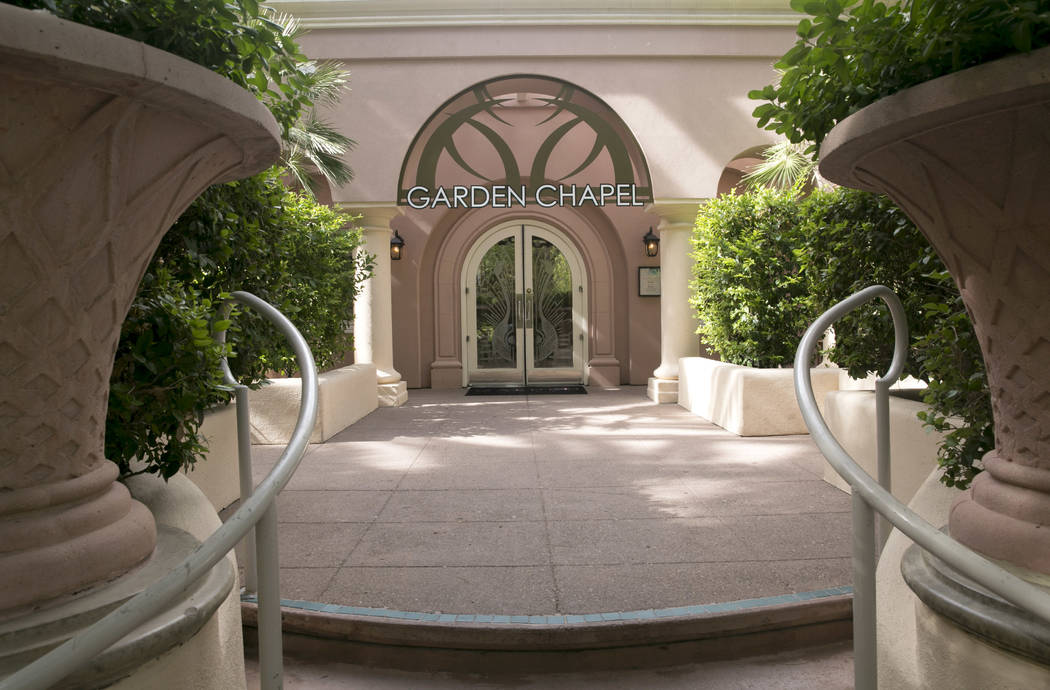The Garden Wedding Chapel at The Flamingo Hotel & Casino in Las Vegas, Thursday, Aug. 3, 2017.  Gabriella Angotti-Jones Las Vegas Review-Journal @gabriellaangojo