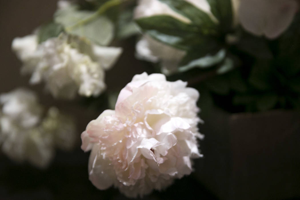 A flower bouquet sits in the hallway of the Garden Wedding Chapel at The Flamingo Hotel & Casino in Las Vegas, Thursday, Aug. 3, 2017.  Gabriella Angotti-Jones Las Vegas Review-Journal @gabrie ...