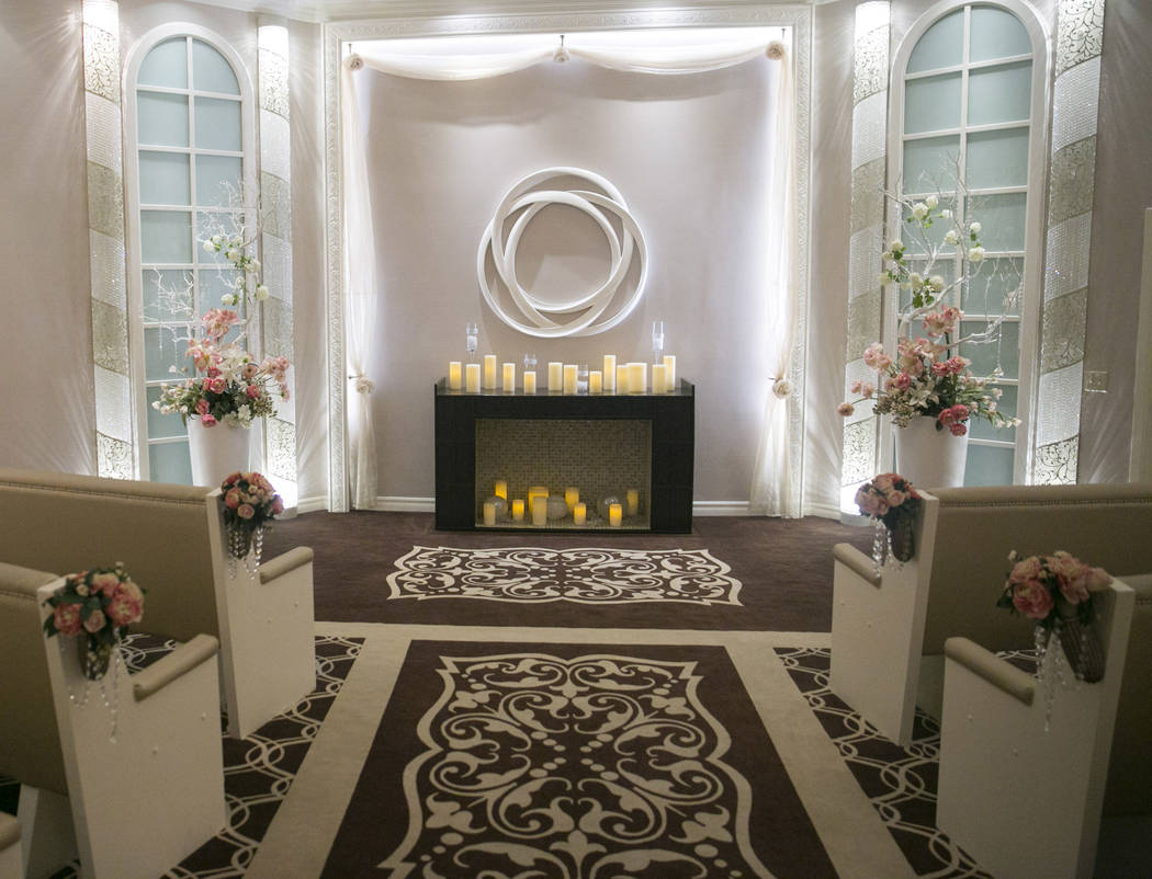 The Garden Wedding Chapel at The Flamingo Hotel & Casino in Las Vegas, Thursday, Aug. 3, 2017.  Gabriella Angotti-Jones Las Vegas Review-Journal @gabriellaangojo