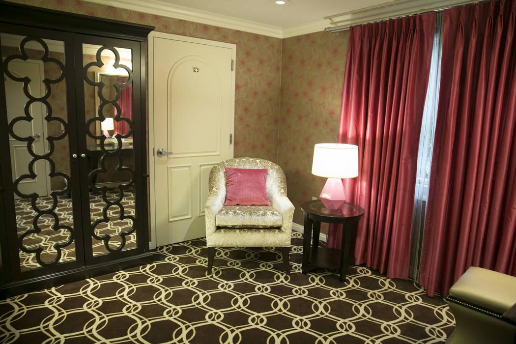 The Bridal Suite in the Garden Wedding Chapel at The Flamingo Hotel & Casino in Las Vegas, Thursday, Aug. 3, 2017.  Gabriella Angotti-Jones Las Vegas Review-Journal @gabriellaangojo