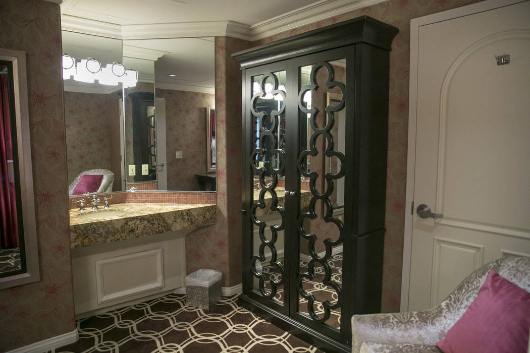The Bridal Suite in the Garden Wedding Chapel at The Flamingo Hotel & Casino in Las Vegas, Thursday, Aug. 3, 2017.  Gabriella Angotti-Jones Las Vegas Review-Journal @gabriellaangojo