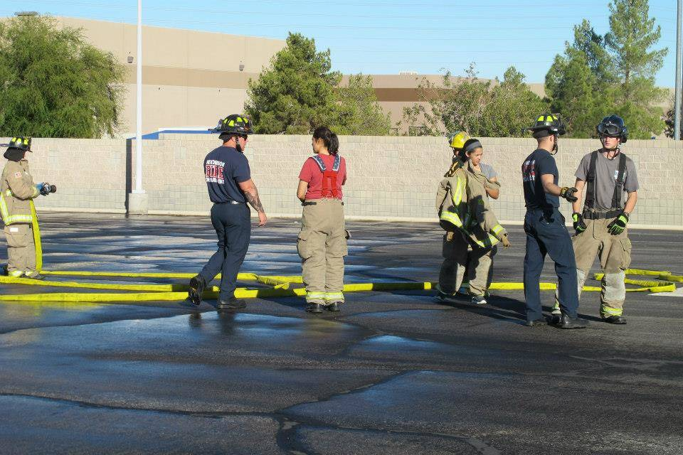 Moore went through the Henderson fire academy as the only female among the 17 males in her class. (Monica Manig)