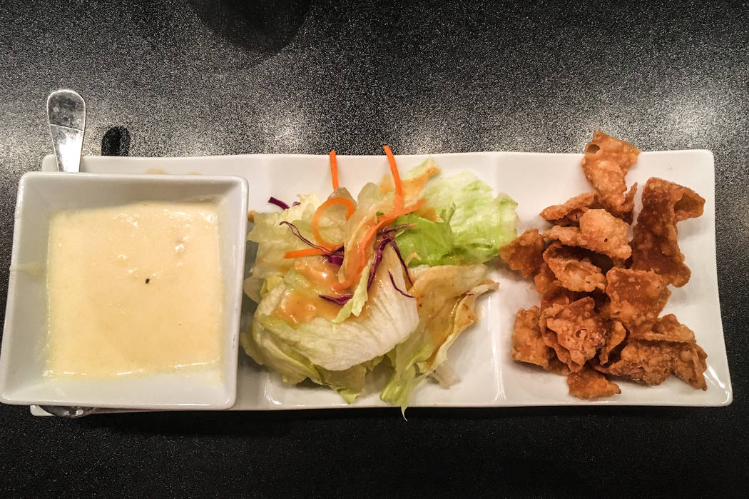 The lunch specials come with an appetizer of house salad and soup. (Alex Meyer/View) @alxmey