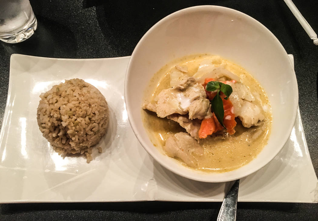 The yellow curry is made up of potato, onion and carrot with a side option of brown or white rice for $12. (Alex Meyer/View) @alxmey