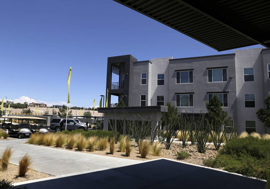 The Elysian West apartment complex is located off of South Jerry Tarkanian Way in Las Vegas, Wednesday, Aug. 2, 2017. (Gabriella Angotti-Jones/Las Vegas Review-Journal) @gabriellaangojo