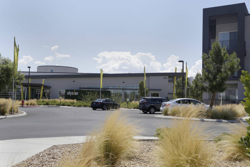 The leasing office of the Elysian West apartment complex is located off of South Jerry Tarkanian Way in Las Vegas, Wednesday, Aug. 2, 2017. (Gabriella Angotti-Jones/Las Vegas Review-Journal) @gabr ...