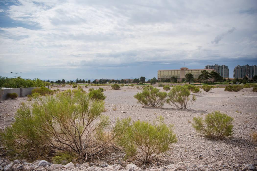 The vacant lot next to the Mira Villa apartments on Thursday, Aug. 3, 2017, in Las Vegas. Morgan Lieberman Las Vegas Review-Journal