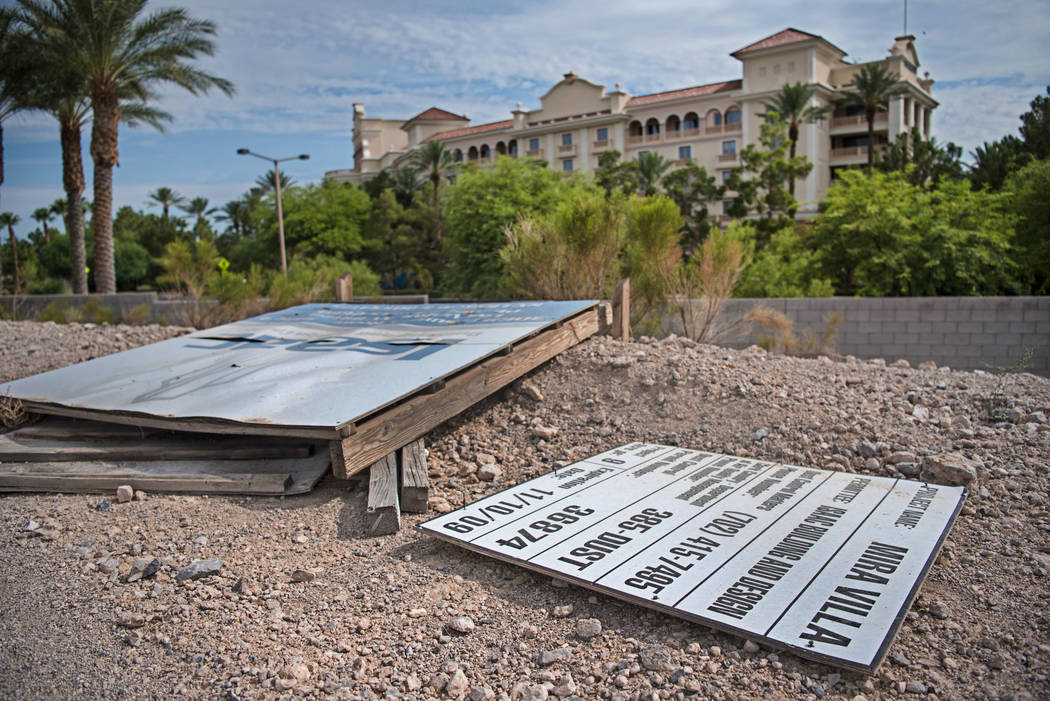 The vacant lot next to the Mira Villa apartments and across the street from JW Marriott hotel on Thursday, Aug. 3, 2017, in Las Vegas. Morgan Lieberman Las Vegas Review-Journal