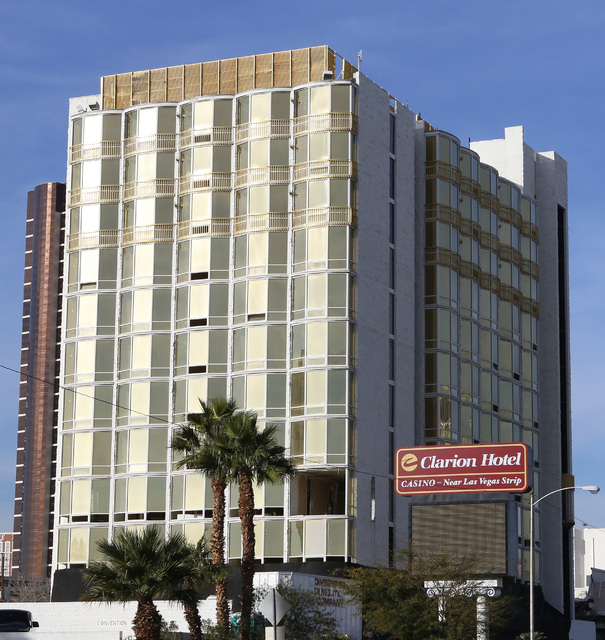 The Clarion Hotel at 305 Convention Center Drive is seen Thursday, Feb. 5, 2015. (Bizuayehu Tesfaye/Las Vegas Review-Journal)