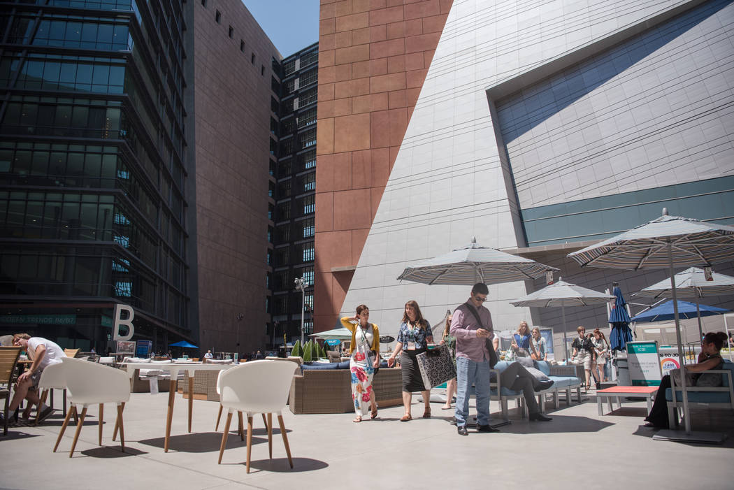 Las Vegas Market at World Market Center patio on Tuesday, August 1, 2017, in Las Vegas. Morgan Lieberman Las Vegas Review-Journal
