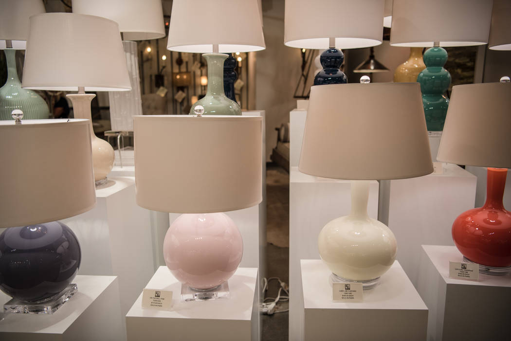 Colorful lamps on display at Las Vegas Market at World Market Center on Tuesday, August 1, 2017, in Las Vegas. Morgan Lieberman Las Vegas Review-Journal
