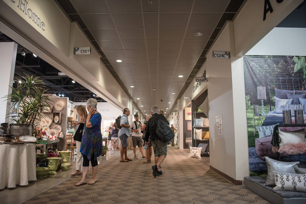 Exhibitor hallway in Building C at Las Vegas Market at World Market Center on Tuesday, August 1, 2017, in Las Vegas. Morgan Lieberman Las Vegas Review-Journal