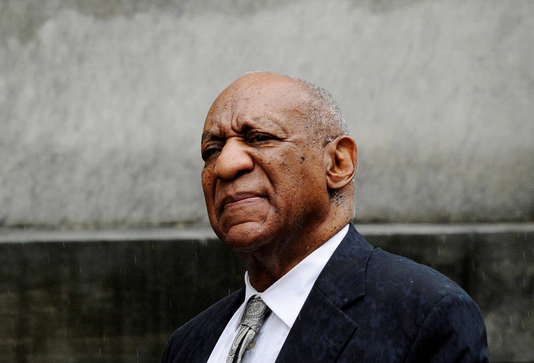 Actor and comedian Bill Cosby departs after a judge declared a mistrial in his sexual assault trial June 17, 2017, at the Montgomery County Courthouse in Norristown, Pennsylvania. (Charles Mostoll ...