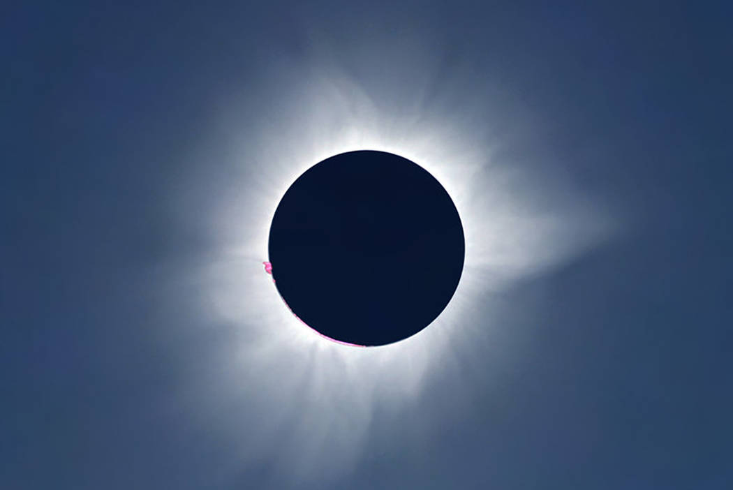 Total solar eclipse of March 9, 2016, in Indonesia.