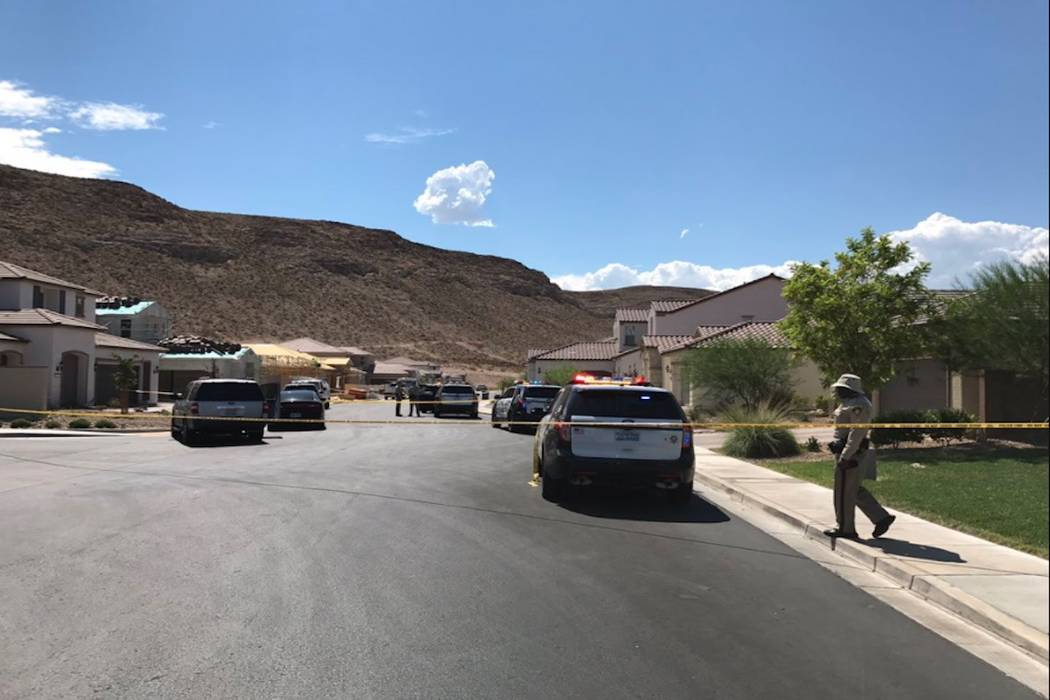 A 3-year-old child reportedly suffered a self-inflicted gunshot wound Tuesday at a home in the southwest Las Vegas Valley. (Blake Apgar/Las Vegas Review-Journal)