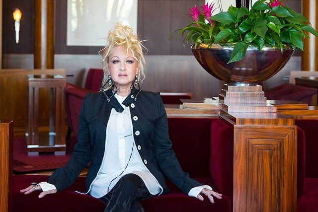 "Cyndi Lauper poses inside the The Smith Center for the Performing Arts while promoting the Tony-winning musical ""Kinky Boots"" on Thursday, Sept. 4, 2014. (Samantha Clemens-Kerbs/Las Vegas Review-J ..."