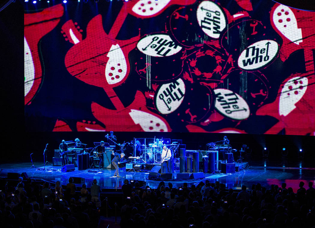 """The Who performs """"I Can't Explain"""" at the Colosseum at Caesars Palace on Saturday, July 29, 2017.  Patrick Connolly Las Vegas Review-Journal @PConnPie"""