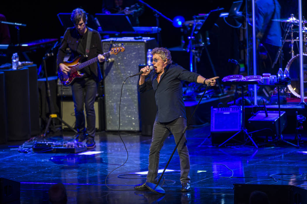 Roger Daltrey of The Who performs at the Colosseum at Caesars Palace on Saturday, July 29, 2017.  Patrick Connolly Las Vegas Review-Journal @PConnPie