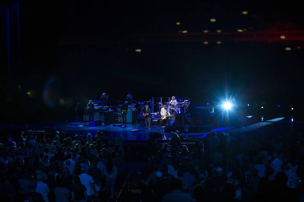 """The Who performs """"The Seeker"""" at the Colosseum at Caesars Palace on Saturday, July 29, 2017.  Patrick Connolly Las Vegas Review-Journal @PConnPie"""