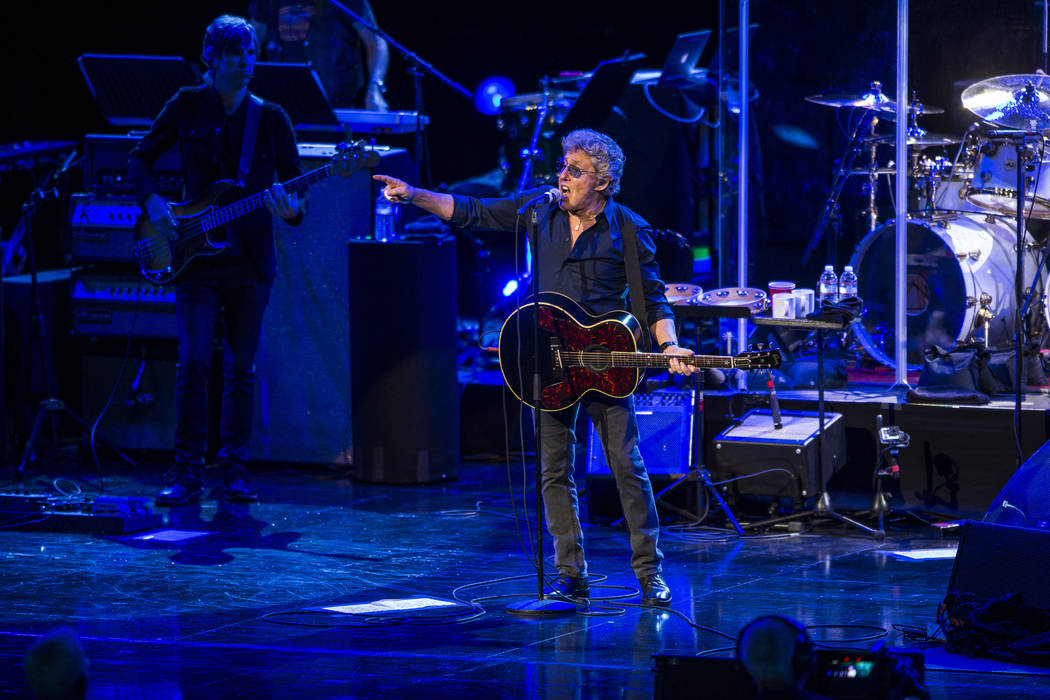 """Roger Daltrey of The Who performs """"Who Are You"""" at the Colosseum at Caesars Palace on Saturday, July 29, 2017.  Patrick Connolly Las Vegas Review-Journal @PConnPie"""