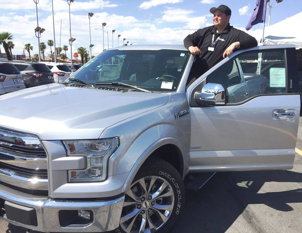 Ford F150 For Sale Las Vegas >> Friendly Ford Salesman Points Out Features Of F 150 Las Vegas