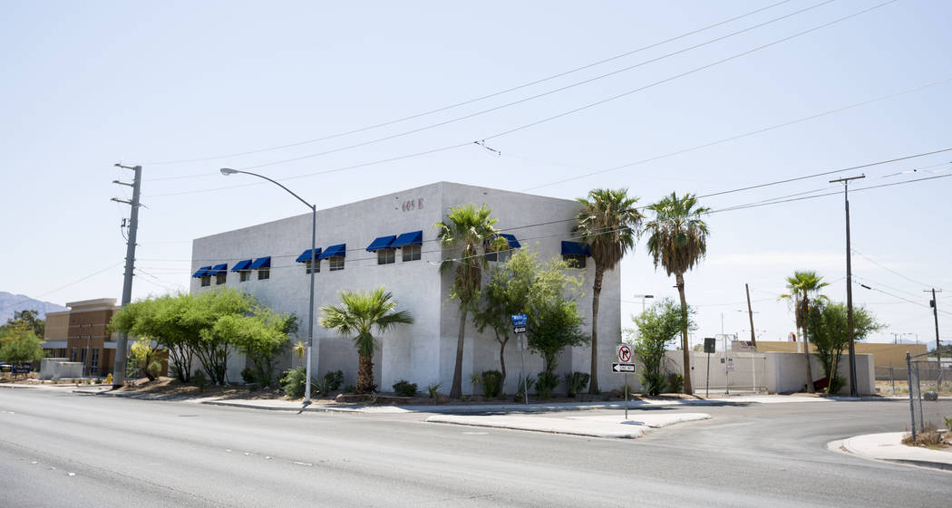The shuttered Canyon Electric Building in North Las Vegas, Wednesday, Aug. 2, 2017. North Las Vegas city officials are expected to remodel the the building into a new library branch for the downto ...