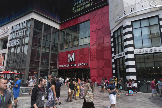 Miracle Mile Shops at Planet Hollywood in Las Vegas is a 200-store indoor mall. (Jason Ogulnik/Las Vegas Review-Journal)
