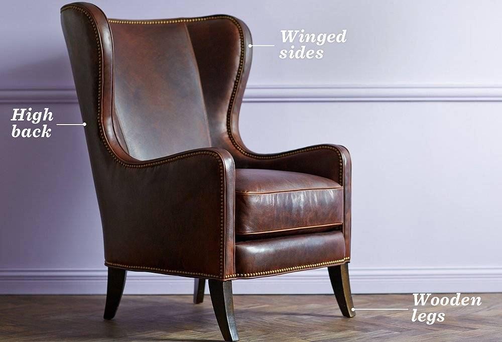 Soleil Design The wingback chair dates back to the 17th century and remains popular today.