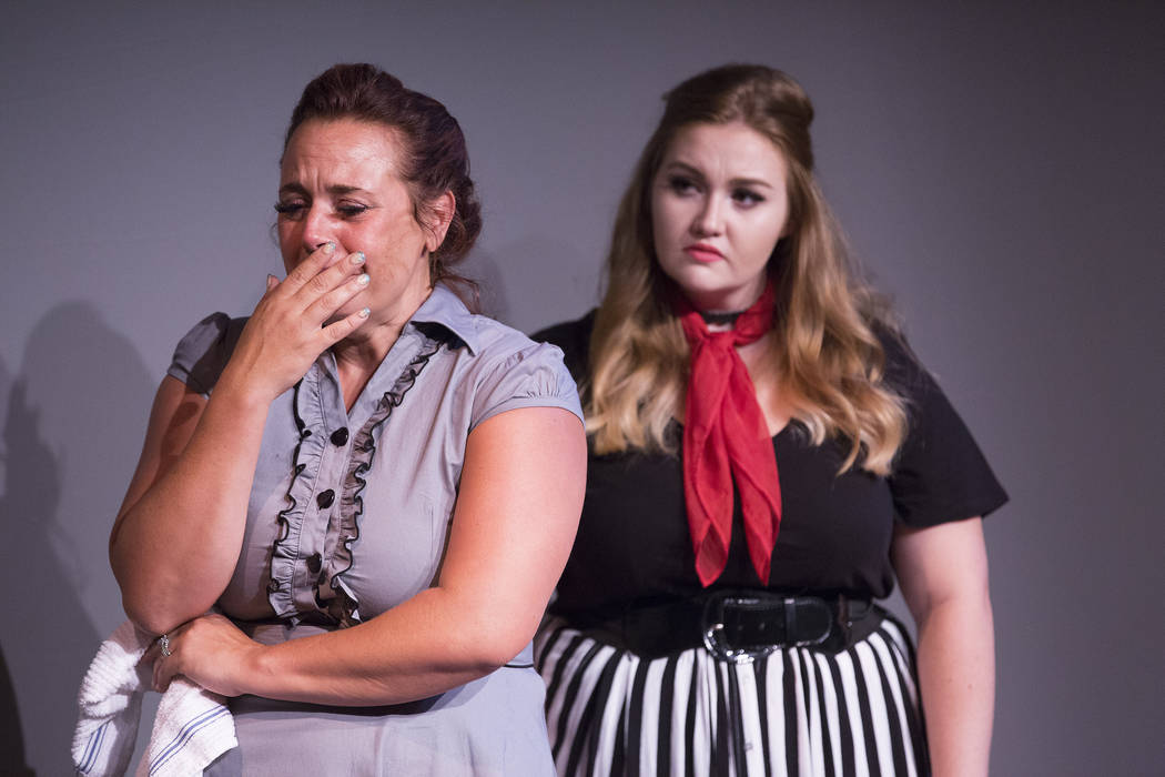"Kim Glover, left, and Marissa McCoy rehearse ""A View From a Bridge"" at Las Vegas Little Theater on Saturday, Aug. 5, 2017, in Las Vegas. Bridget Bennett Las Vegas Review-Journal  ..."