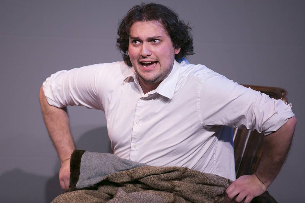 "Josh Meltzer rehearses ""The Whipping Man"" at Las Vegas Little Theater on Saturday, Aug. 5, 2017, in Las Vegas. Bridget Bennett Las Vegas Review-Journal @bridgetkbennett"