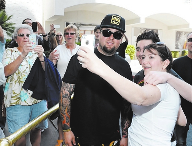 "Austin ""Chumlee"" Russell mingles with fans last week at the Riviera as the ""Pawn Stars"" helped promote the relocation of the ""Pawn Stars Live!"" comedy show from the Golden Nugget to the Strip. (Co ..."