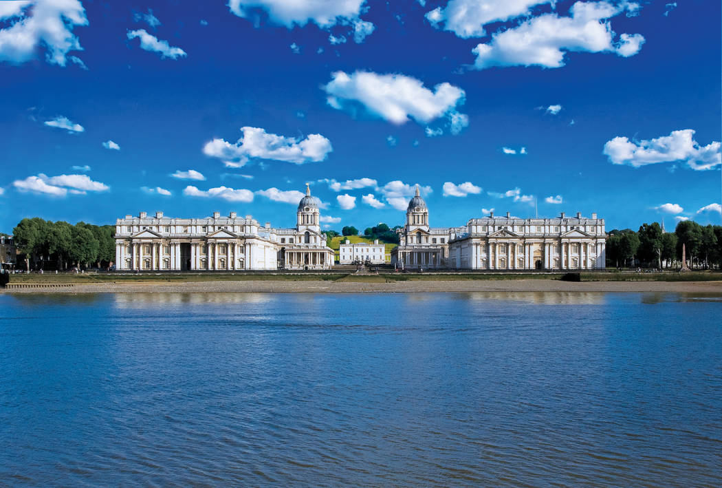 The Old Royal Navy College, located in Greenwich, England, is the setting of a fight scene in Thor: The Dark World, a 2013 film. (Courtesy of visitgreenwich.org.uk)