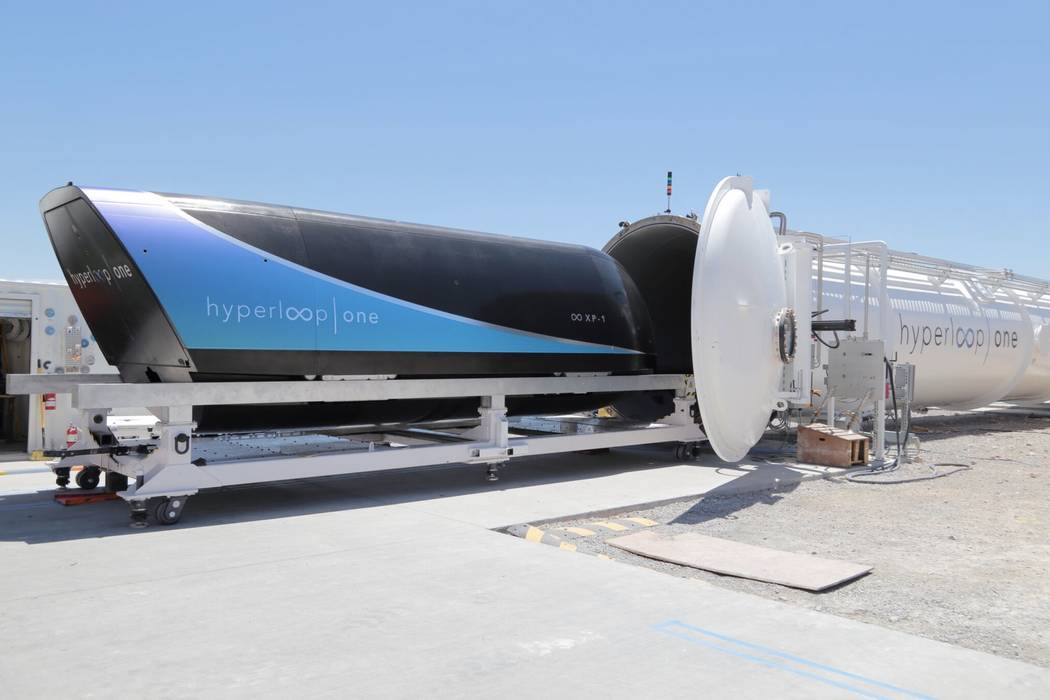 Hyperloop One has sent a pod at about 192 mph at its test track near North Las Vegas. Hyperloop One