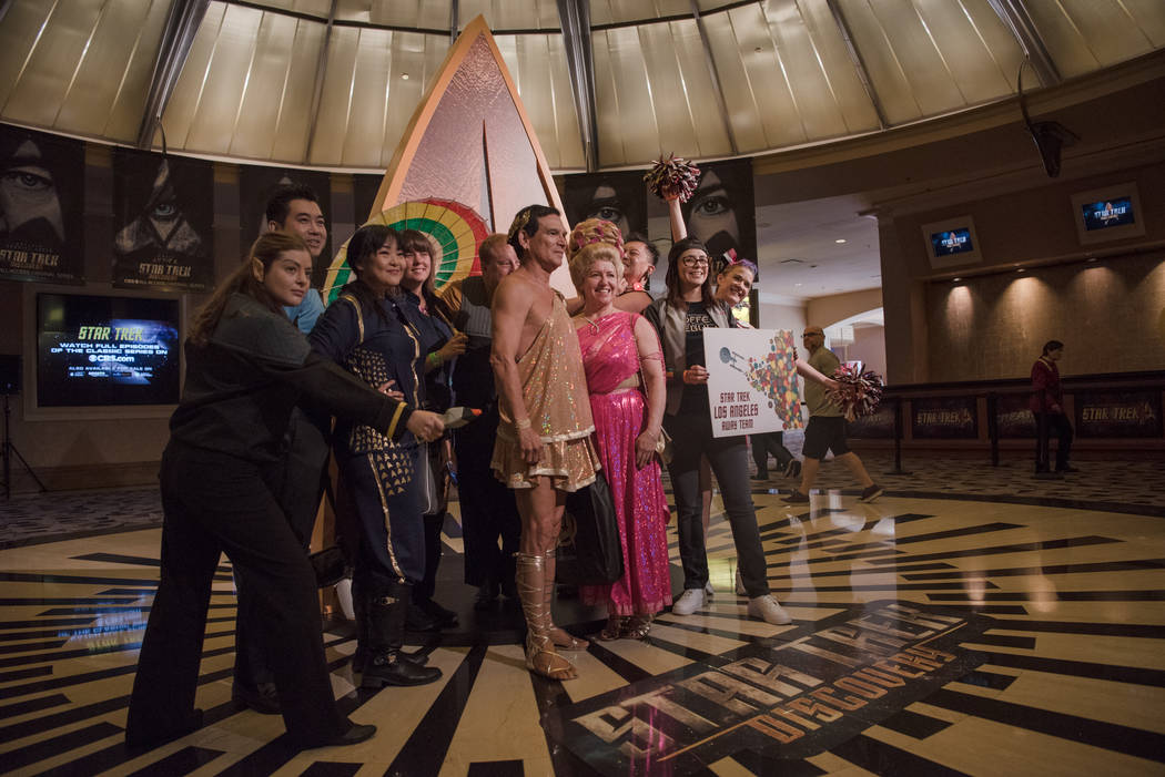 A group of Star Trek fans get their photo taken at Star Trek Convention at Rio hotel-casino on Saturday, August 5, 2017, in Las Vegas. Morgan Lieberman Las Vegas Review-Journal