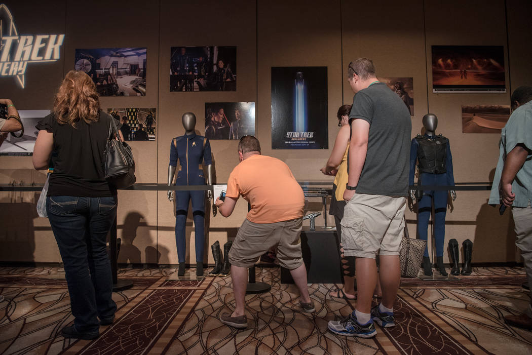 Star Trek costumes on display at Star Trek Convention at Rio hotel-casino on Saturday, August 5, 2017, in Las Vegas. Morgan Lieberman Las Vegas Review-Journal