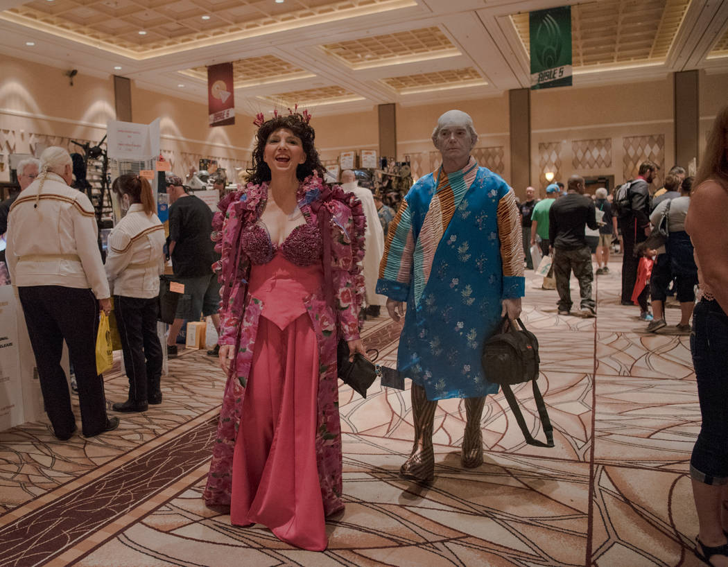 Rich and Debbi Reinke walk towards their friends at Star Trek Convention at Rio hotel-casino on Saturday, August 5, 2017, in Las Vegas. Morgan Lieberman Las Vegas Review-Journal