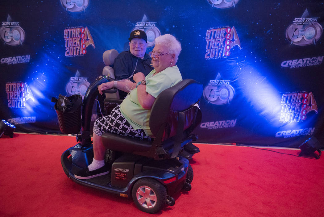 Rochelle and Ralph Steele get their photo taken on the red carpet at Star Trek Convention at Rio hotel-casino on Saturday, August 5, 2017, in Las Vegas. Morgan Lieberman Las Vegas Review-Journal