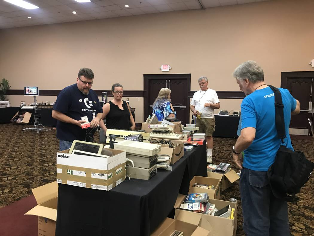 Visitors attend the Commodore Retro Expo on July 29, 2017 at the Commodore Retro Expo at Alexis Park Resort, 375 E. Harmon Ave. (Kailyn Brown/ View) @KailynHype