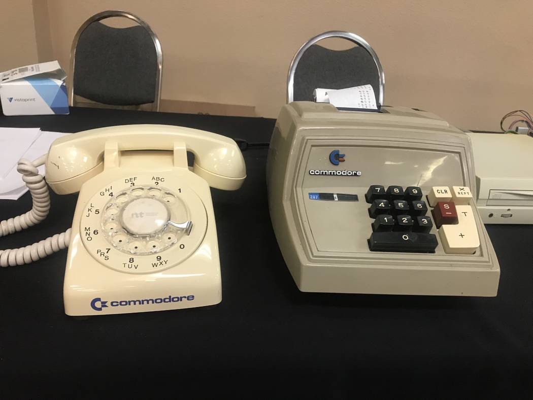 Commodore gadgets are shown on July 29, 2017 at the Commodore Retro Expo at Alexis Park Resort, 375 E. Harmon Ave. (Kailyn Brown/ View) @KailynHype