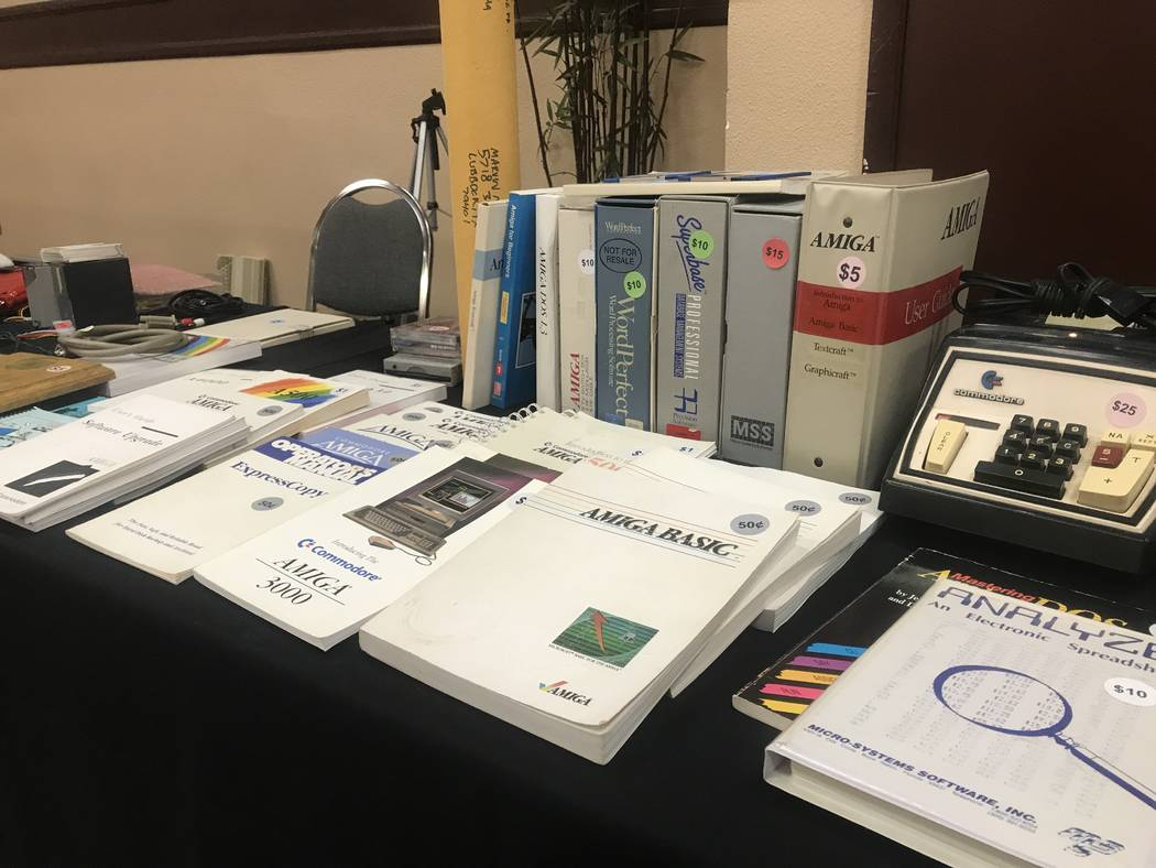 Amiga products are shown on July 29, 2017 at the Commodore Retro Expo at Alexis Park Resort, 375 E. Harmon Ave. (Kailyn Brown/ View) @KailynHype