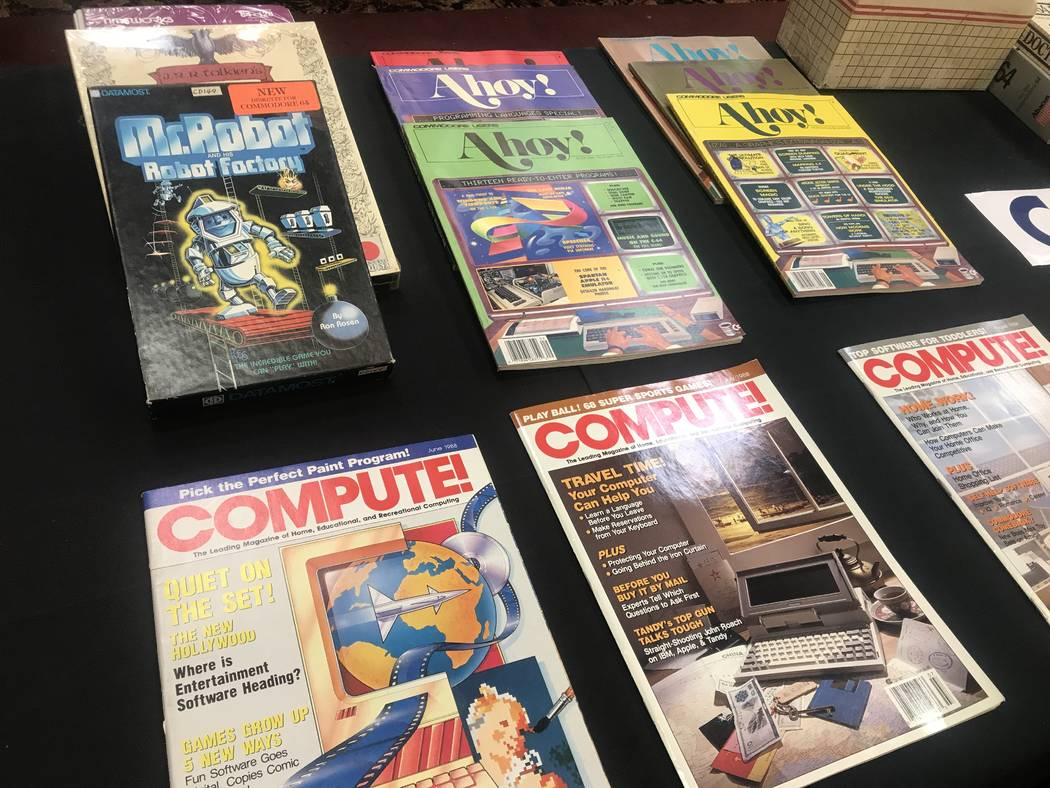 Items on display at the Commodore Retro Expo on July 29, 2017 at Alexis Park Resort, 375 E. Harmon Ave. (Kailyn Brown/ View) @KailynHype