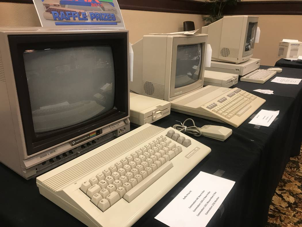 Commodore gadgets were used in raffle on July 29, 2017 at the Commodore Retro Expo at Alexis Park Resort, 375 E. Harmon Ave. (Kailyn Brown/ View) @KailynHype